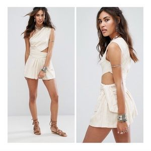 Free People Hot Chip One Shoulder Romper NWT